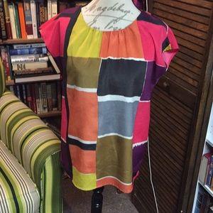 Loft color block blouse Size Medium